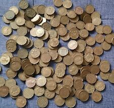 More details for job lot of brass threepences - over 150 coins