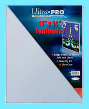 20 ULTRA PRO 11x14 TOPLOADERS NEW Photo Collectible Rigid Document Art Poster