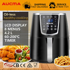 AUCMA Oil Free Air Fryer Healthy Kitchen Oven 4.2L Multi Cooker Grill Airfryer