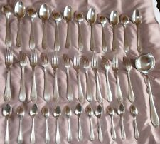 Ménagère métal argenté de style Art déco - 37 pièces - ORBRILLE orfèvrerie