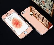 Front+Back Mirror Tempered Glass Screen Protector Case Cover for Apple iPhone