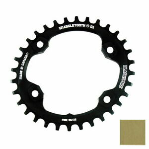 Snaggletooth Narrow/ Wide Oval Chainring 96/30T Shimano XT M8000 Gold 421584002