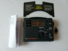C Crane CC Solar Observer Emergency AM/FM Radio with NOAA Weather and Flashlight