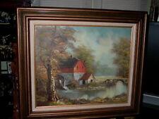 Robert Moore Framed Oil on Canvas Painting Landscape Scene