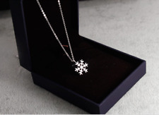 Fashion 925 Sterling Silver *Snow-flake* Pendant Necklace