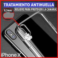 FUNDA TPU DE GEL SILICONA TRANSPARENTE PARA IPHONE X CARCASA PLASTICO
