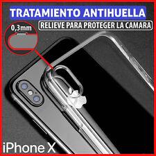 FUNDA TPU DE GEL SILICONA TRANSPARENTE PARA IPHONE X / XS CARCASA PLASTICO