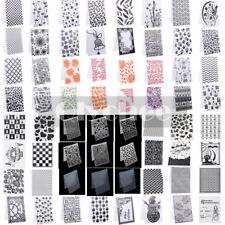 Hágalo usted mismo de silicona Transparente Sellos De Goma Sello Plástico carpetas de grabación en relieve para álbum de recortes