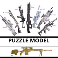 1/6 Scale HK416 AK74 MG62 Toy Gun Model Rifle Puzzle Building Bricks Gun Weapon
