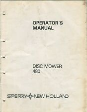New Holland Disc Mower 480 Operator's Manual