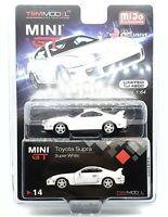 Mini GT TOYOTA SUPRA (JZA80) LHD WHITE LTD ED 4,800 PCS 1/64