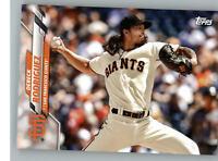 2020 Topps Team Set Card San Francisco Giants SF-16 Dereck Rodriguez Giants®