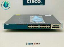 Cisco WS-C3560X-24P-S • 24 Port PoE+ 3560X Gigabit Switch ■ 1 YEAR WARRANTY ■