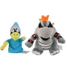 2PCS Super Mario Bros Magikoopa and Dry Bowser Bones Koopa Plush Doll Toy