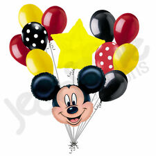 12 pc Mickey Mouse Theme Balloon Bouquet Party Decoration Birthday Graduation