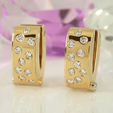 Handgefertigte Ohrringe 750 Gelbgold 18K mit 22 Diamanten ca 1,00 ct -15,4 Gramm