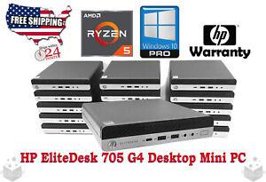 HP Mini DT EliteDesk 705 G4 AMD Ryzen 5 PRO 3.2 GHz - RAM 8 GB - 256GB SSD Mint!