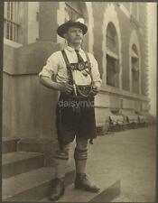 Ellis Island USA 1906 Bavarian Man Traditional Dress Immigrant 6x5 Reprint Photo