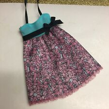 New listing BARBIE DOLL CLOTHES DARK PINK BLUE BLACK BOWS BABYDOLL DRESS FASHION STYLE CUTE