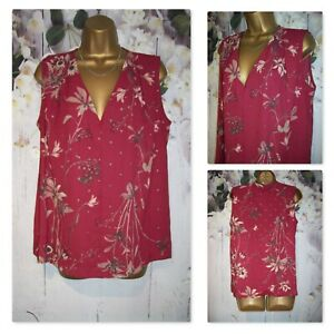 LADIES NEXT TOP SIZE 16, Berry Pink Floral Diamante Occasion Party Top Blouse