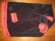Uilleann black velvet red chainette fringe bag cover