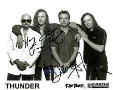 THUNDER BAND SIGNED 10X8 INCH REPRO PHOTO PRINT