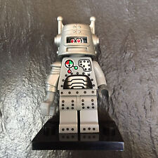 LEGO MINIFIGURE SERIES 1 ROBOT WITH REMOVABLE HELMET - ON STAND