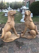 Englische Pointer Hunde Set aus massiven Steinguss