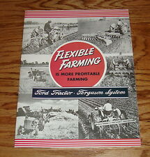 1939-1947 Ford Tractor Ferguson System Flexible Farming Sales Brochure