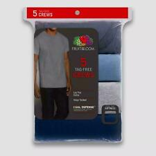 Product Description: Men's Fruit of the Loom 5 Pack of Tag Free Crew Neck