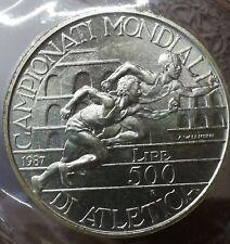 500 Lire 1987 ATLETICA arg. da serie fdc