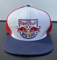 Mitchell & Ness New York Red Bulls Flat Brim Hat MLS Soccer Team Red White Blue