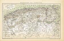 Karte ALGERIEN und TUNESIEN 1893 Original-Graphik
