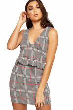 Maglie e camicie da donna grigi senza maniche scollo a v