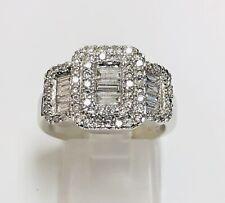 14K White Gold EFFY Classic 1 TCW Diamond Ladies Ring Size 6.5