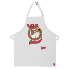American Staffordshire Terrier Amstaff Dog Christmas Apron Two Pocket Bib Apron