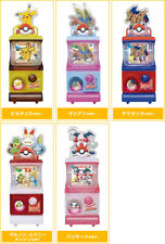 Tomy Pokemon Sword and Shield Mini Gashapon Vending Machine Gacha Figure x5