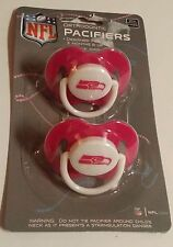 SEATTLE SEAHAWKS Pink 2-pack Infant Pacifiers NFL FOOTBALL BABY SHOWER GIRL GIFT