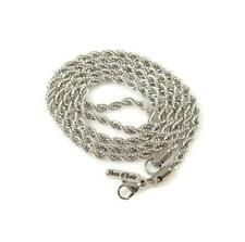 """Han Cholo Individual Rope Chain - 4mm Silver Stainless Steel  Necklace 30"""""""
