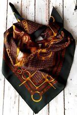 BNWOT Beautiful Handmade 100%Silk Scarf Unbranded 90x90cm Equestrian Multi Italy