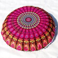 Mandala Floor Pillows Indian Tapestry Bohemian Throw Meditation Cushion Cover US