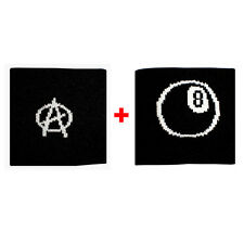 Couple wristbands with A anarchy + ball n.8 sponge groups rock and flags