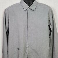 Dior Homme Bee Mens Size XL Hidden Button Long Sleeve Shirt Cotton Italy