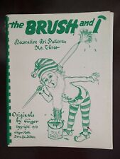 The Brush and I Ginger Roth Tole Painting Art Patterns No. 3 Vintage 1973 Illust