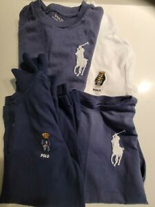 4 x Authentic Ralph Lauren Polo Shirts, Sizes 6 and 7 Boys