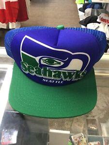 NWOT Vintage Seattle Seahawks New Era Mesh Trucker Foam Snapback Hat Cap New
