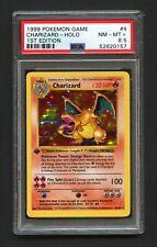 Charizard Holo Pokemon Card 1st Edition Thick Stamp Base Set 4/102 BGS PSA 8.5