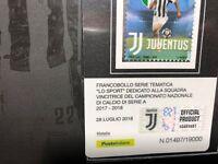 2018 Folder Juventus Campione d' Italia 2017/18 Trifoglio Intero su Tessera Fil