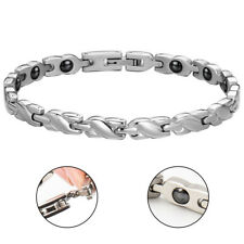 Womens Magnetic Health Bracelet Silver Jewellery Bangle Arthritis Pain Relief