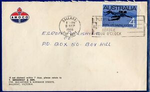 AUSTRALIA - ENVELOPE with STAMPS of 4 c. USED 8-9-1966